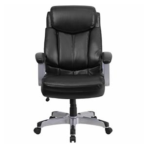 HERCULES Series Rated Black Leather Executive Swivel Chair with Arms Review